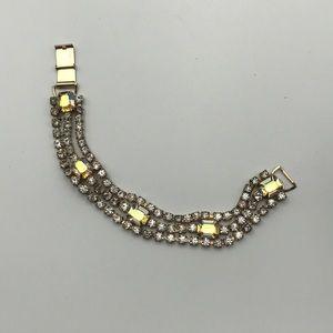 Vintage Rhinestone Cubic Ziconia Bracelet